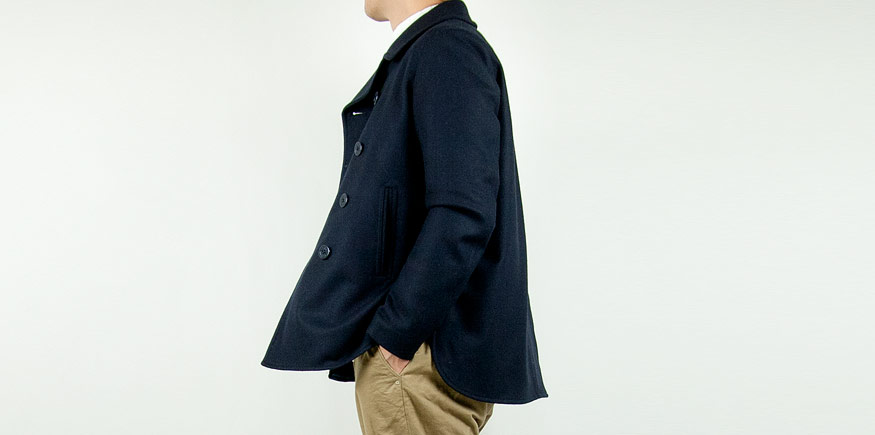 maillot b.label melton PEA jacket NAVY