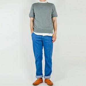 TATAMIZE 4POCKET PANTS BLUE