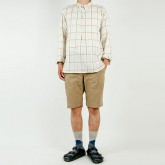 TATAMIZE P/O SHIRTS RELAX BEIGE CHECK