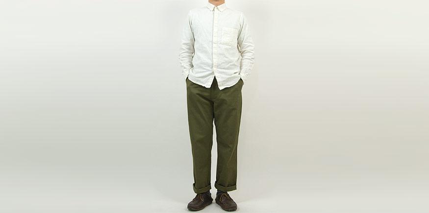 THE HINOKI リネンコットン ポケットワークシャツ NATURAL
