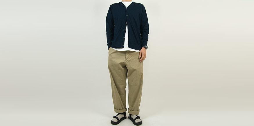YAECA CHINO CLOTH PANTS WIDE KHAKI 〔メンズ〕